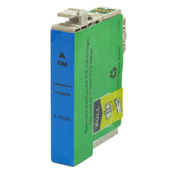 Remanufactured/Generic Epson 126 (Epson T126220) Ink Cartridge, Cyan