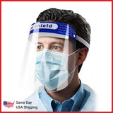 Safety Face Shield CE Certified - Same Day USA Shipping