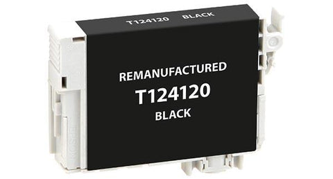 Remanufactured/Compatible Epson T124120 Ink Cartridge - Black