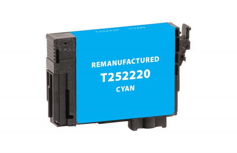 Remanufactured/Compatible Epson T252220 Ink Cartridge, Cyan