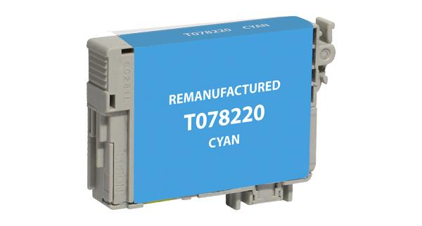 Remanufactured/compatible Epson T078220 Ink Cartridge - Cyan