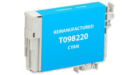 Remanufactured/Compatible Epson T098220 Ink Cartridge - Cyan