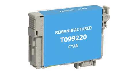 Remanufactured/Compatible Epson T099220 Ink Cartridge - Cyan
