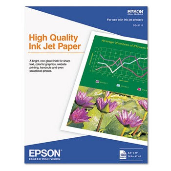 Epson 8.5 x 11 High Quality Inkjet Paper
