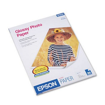 Epson Glossy Photo Paper, 8.5 x 11 inch Letter size (S041141)