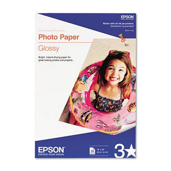 Epson 13 x 19 Bright White Photo Paper, Epson S041143