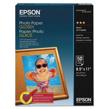 Epson 8.5x11 Bright White Glossy Photo Paper