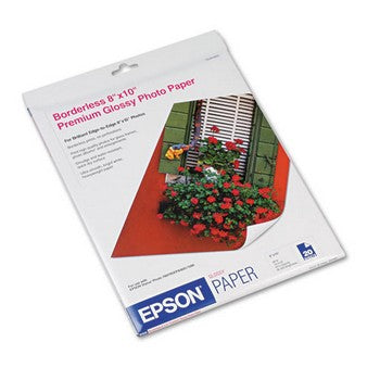 Epson Premium Photo Paper, Glossy 8 x 10 inch, 20 sheets (S041465)