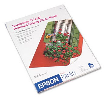 OEM/Genuine Epson 11x14 Photo Paper - High-Gloss, Bright White