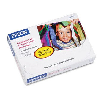 Epson Premium Gloss Photo Paper, 4 x 6 Inch/100 sheets (S041727)