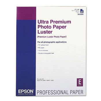 Epson Ultra Premium Photo Paper Luster, 17 x 22inch/25sheets (S042084)