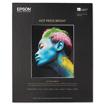 Epson S042331 17 x 22, Bright White, 25 Sheets Fine Art Paper