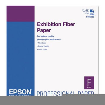 Epson Exhibition Paper 17in x 22in Fiber (S045039)