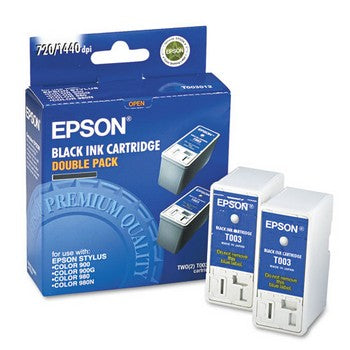 Epson T003 Black, Twin Pack Ink Cartridge, Epson T003012