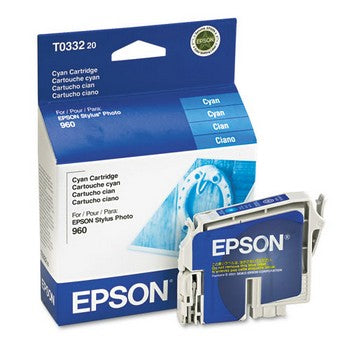 Epson T0332 Cyan Ink Cartridge, Epson T033220