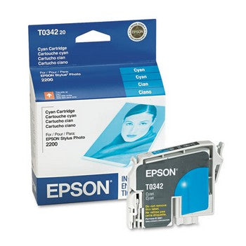 Epson T0342 Cyan Ink Cartridge, Epson T034220