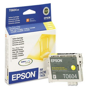 Epson T0604 Yellow Ink Cartridge, Epson T060420