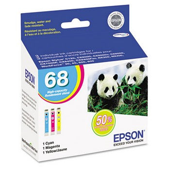 Epson 68 Multi Pack, High Yield Ink Cartridge, Epson T068520