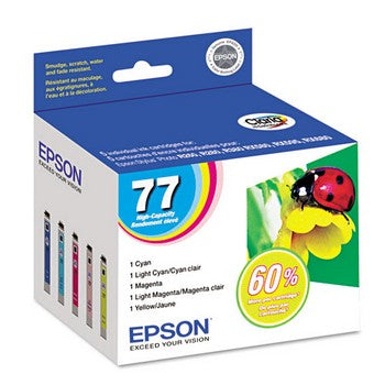 Epson 77 Color, Multi Pack Ink Cartridge, Epson T077920