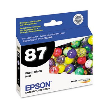 Epson 87 Black Ink Cartridge, Epson T087120