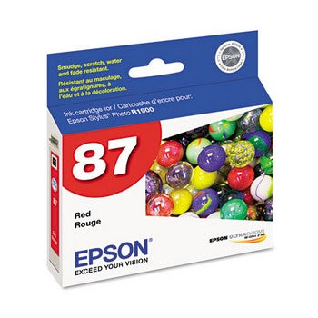 Epson 87 Red Ink Cartridge, Epson T087720