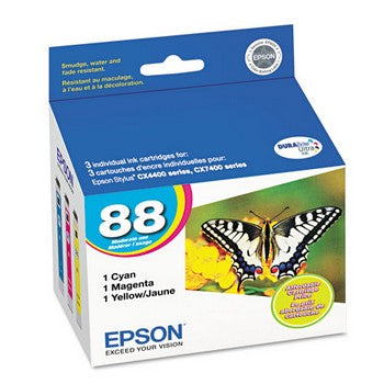 Epson 88 Color, Value Pack Ink Cartridge, Epson T088520