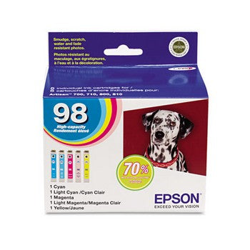 Epson 98 Color, Multi Pack, High Capacity Ink Cartridge, Epson T098920