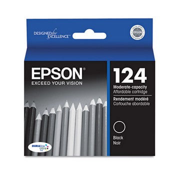 OEM/Genuine Epson 124 (Epson T124120) Ink Cartridge, Black