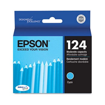 OEM/Genuine Epson 124 (Epson T124220) Ink Cartridge, Cyan | Databazaar