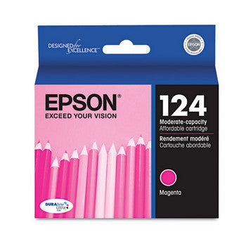 Epson 124 Magenta, Moderate Capacity Ink Cartridge, Epson T124320