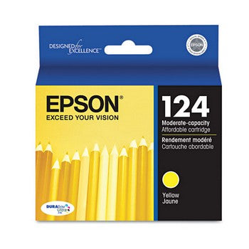 Epson 124 Yellow, Moderate Capacity Ink Cartridge, Epson T124420