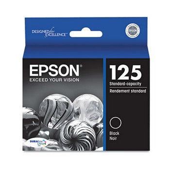 OEM/Genuine Epson 125 (Epson T125120) Ink Cartridge - Black