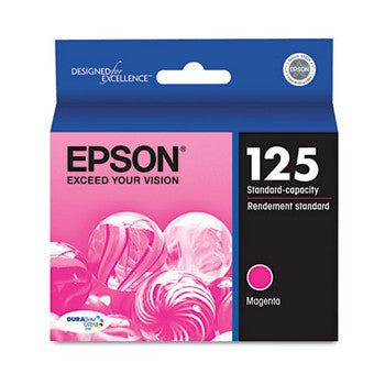 Epson 125 Magenta Ink Cartridge, Epson T125320