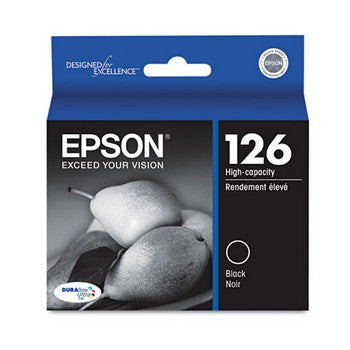 Epson 126 Black, High Yield Ink Cartridge, Epson T126120