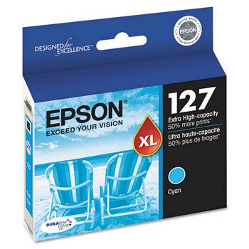 Epson 127 Cyan, Extra High Capacity Ink Cartridge, Epson T127220