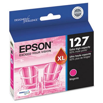 Epson 127 Magenta, Extra High Capacity Ink Cartridge, Epson T127320