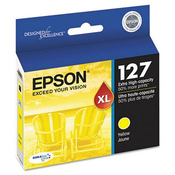 Epson 127 Yellow, Extra High Capacity Ink Cartridge, Epson T127420