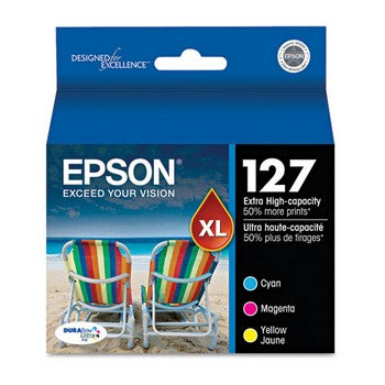 Epson 127 Color, Extra High Capacity, 3/Pack Ink Cartridge, Epson T127520