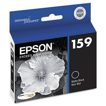 Epson 159 Matte Black, High-Gloss Ink Cartridge, Epson T159820