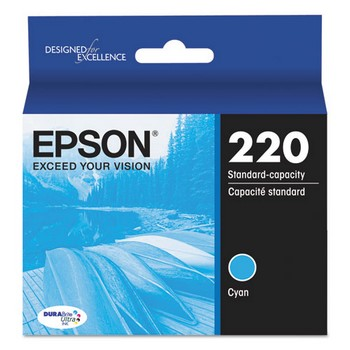 Epson 220 Cyan, Standard Yield Ink Cartridge, Epson T220220