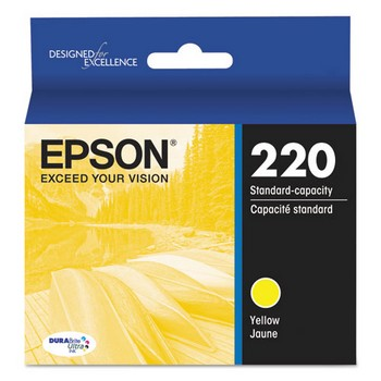 Epson 220 Yellow, Standard Yield Ink Cartridge, Epson T220420
