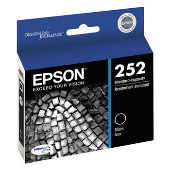 Epson 252 Black, Standard Yield Ink Cartridge, Epson T252120