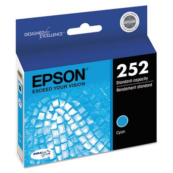 Epson 252 Cyan, Standard Yield Ink Cartridge, Epson T252220