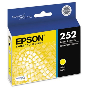 Epson 252 Yellow, Standard Yield Ink Cartridge, Epson T252420