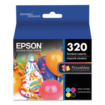 Epson T320 4 Color, Multipack Ink Cartridge, Epson T320P