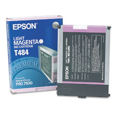OEM/Original Epson T484 (T484011) Ink Cartridge, Light Magenta