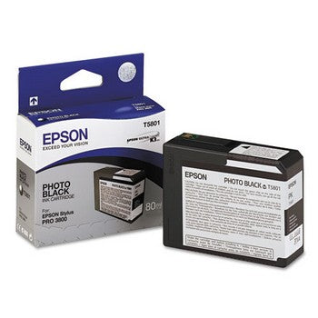Epson T5801 Black Ink Cartridge, Epson T580100
