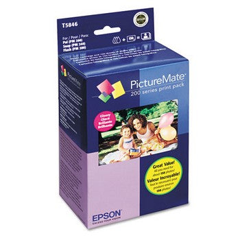 Epson Glossy Picturemate Print Pack, 4 x 6 inch (T5846)