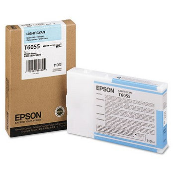 Epson T6055 Light Cyan Ink Cartridge, Epson T605500