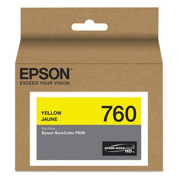 Epson T760 Yellow, Standard Yield Ink Cartridge, Epson T760420